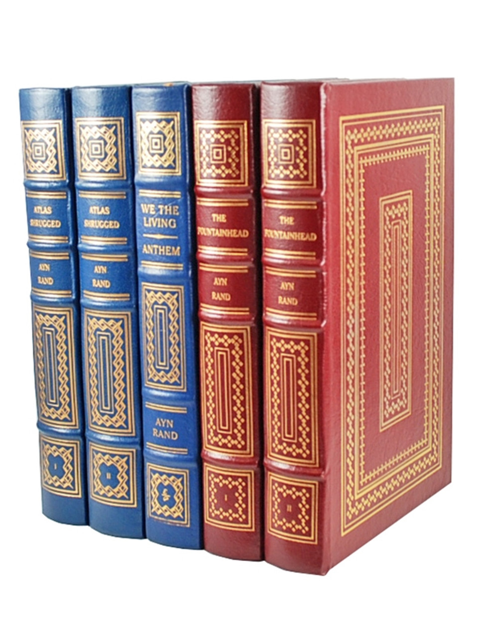 Easton Press, The Collected Works of Ayn Rand, Limited Leather Bound Collector's Edition, 5 Vol. Set