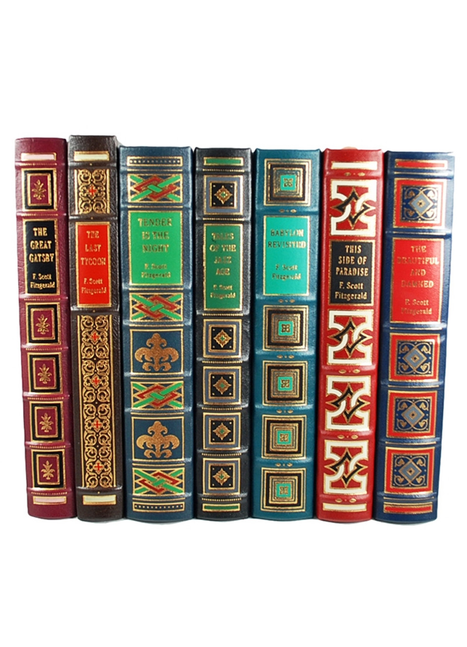 Easton Press, F. Scott Fitzgerald,  Limited Collector's Edition, Leather Bound Complete Matching Set, 7 Vols
