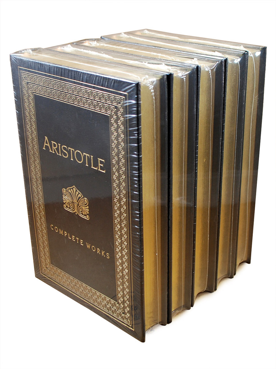 """Easton Press """"The Complete Works of Aristotle"""" Leather Bound Limited Edition, Five Volume Matching Set [Sealed]"""