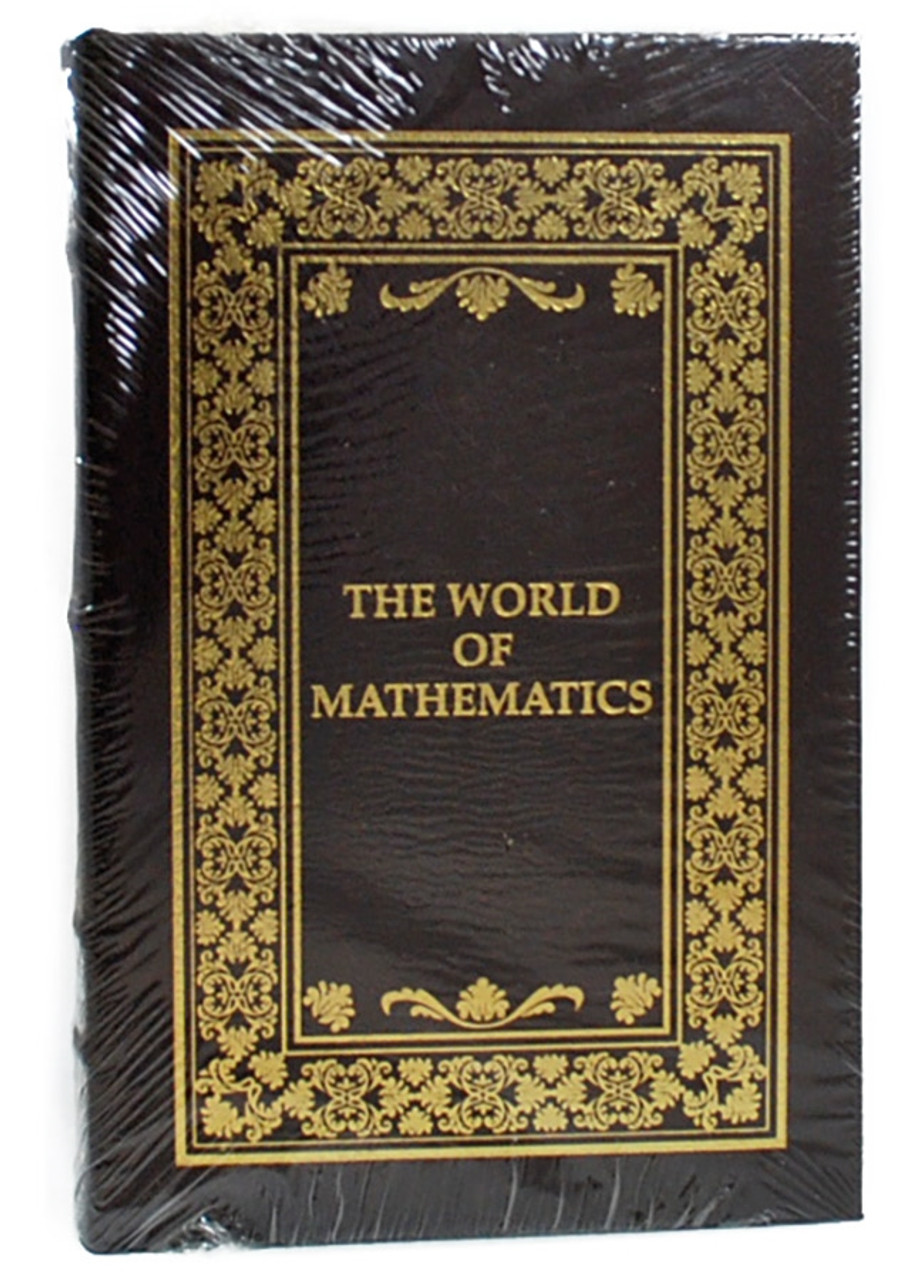 """Easton Press, James R. Newman """"The World of Mathematics"""" Leather Bound Limited Edition, Complete Matching 4-Vol. Set [Sealed]"""