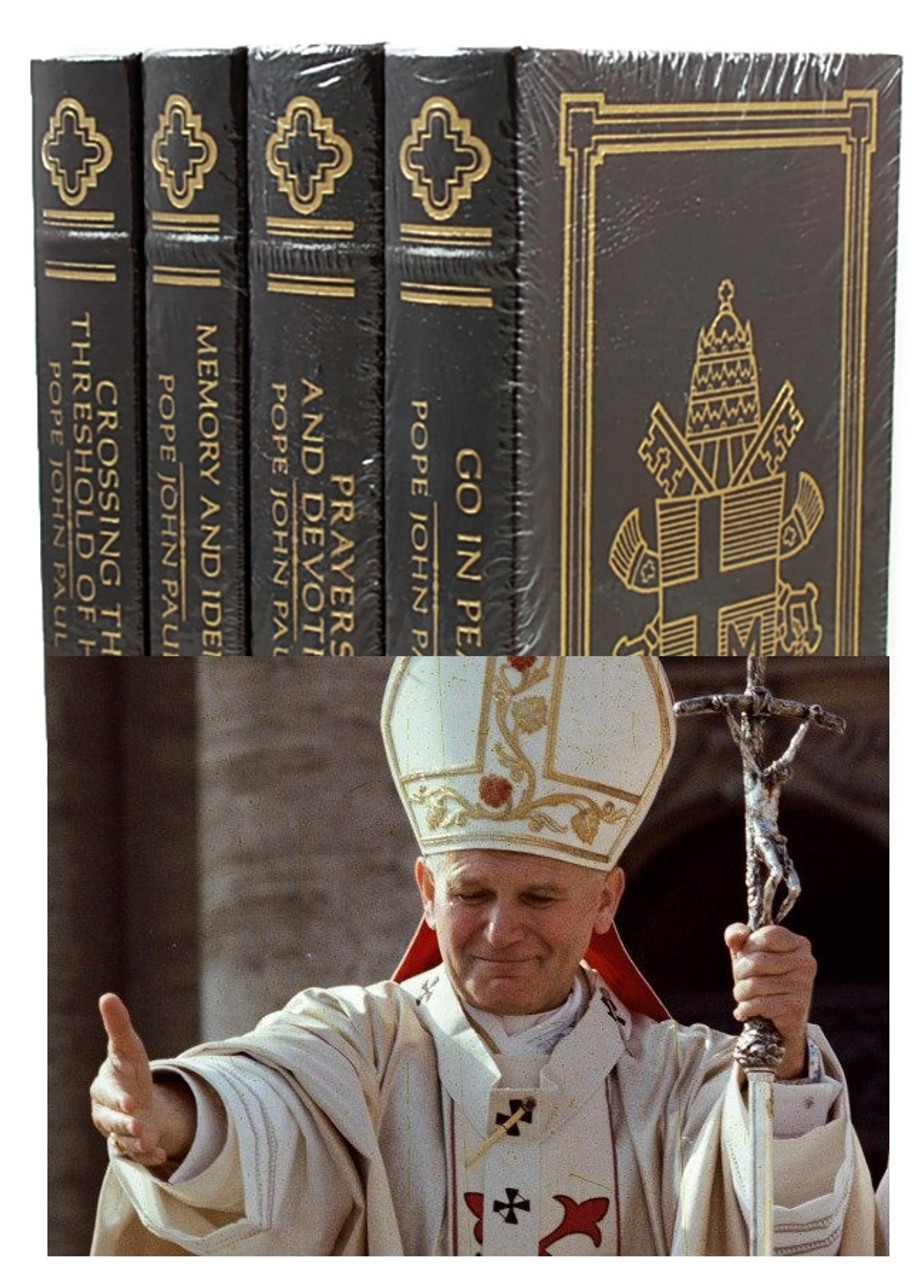 "Easton Press ""The Writings of Pope John Paul II"" Leather Bound Limited Edition, Complete Matching 4-Vol. Set [Sealed]"