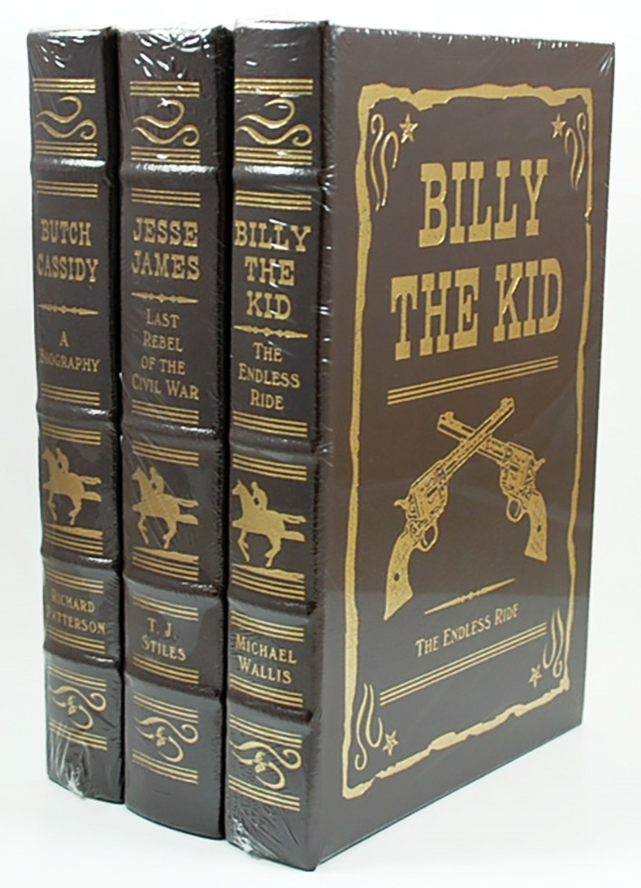 "Easton Press ""Outlaws Of The Old West"" Leather Bound Limited Edition, Complete Matching 3-Vol. Set [Sealed]"