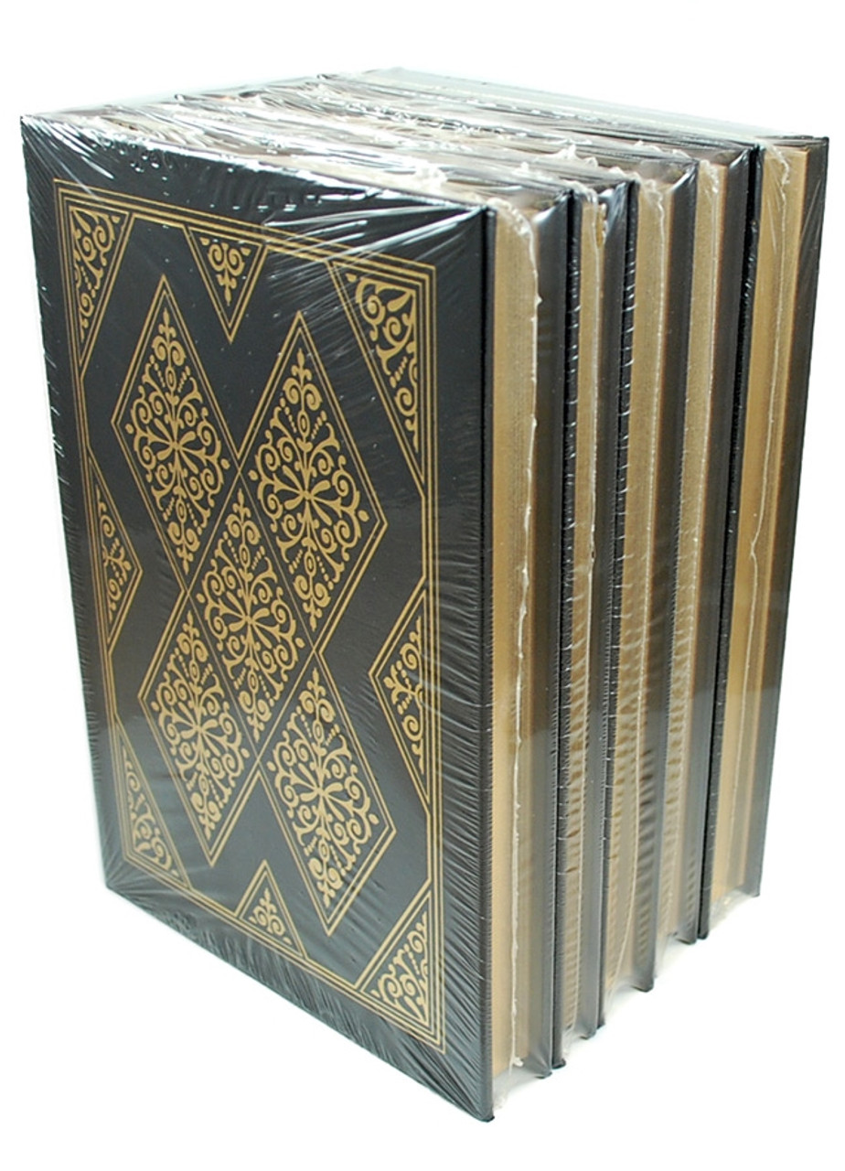 """Easton Press """"H.G. Wells: The Classic Novels in Five Volumes"""" Leather Bound Limited Edition, Complete Matching 5-Vol. Set w/COA [Sealed]"""