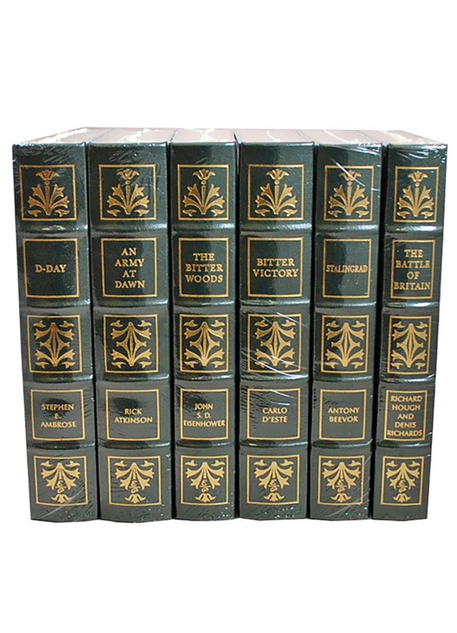 Easton Press TURNING POINTS OF WWII: GREAT BATTLES, The Battle of Britain, The Bitter Woods, An Army at Dawn, Stalingrad, Bitter Victory, D-Day, Limited Edition Matched Set, 6-Vol. [Sealed]