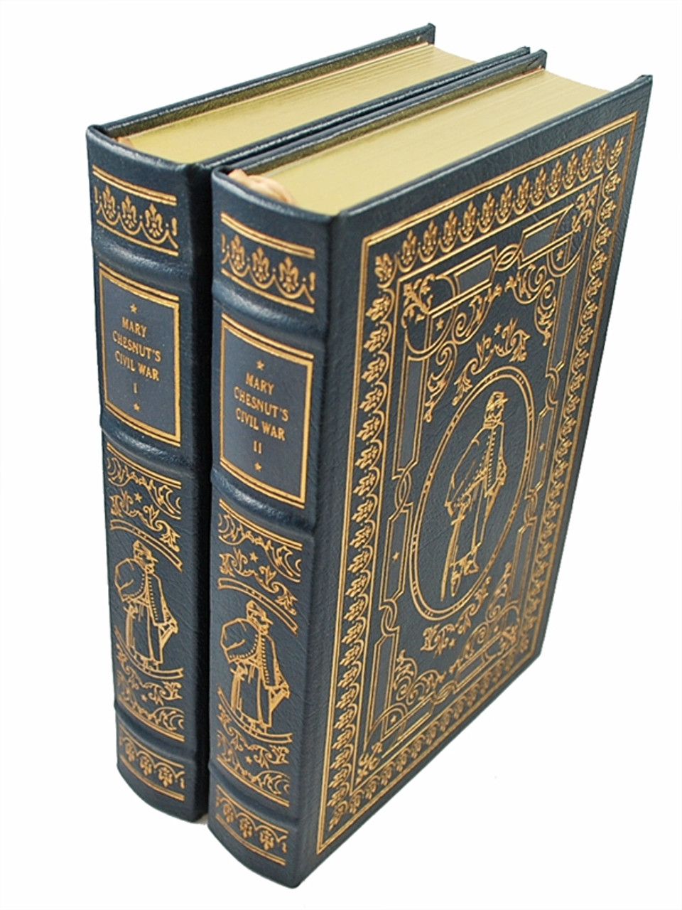 """Easton Press, C. Vann Woodward """"Mary Chesnut's Civil War"""" Leather Bound Collector's Edition, Two Vol. Complete Matched Set"""