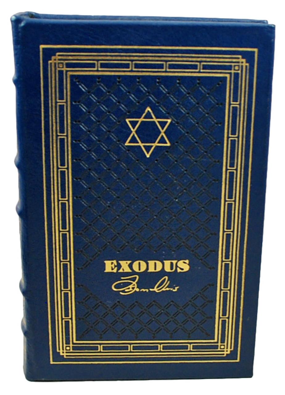 "Easton Press ""Jewish Classics"" 3-Volume Complete Matching Signed Limited Edition, ""Exodus"", ""The Chosen"", ""Night"""