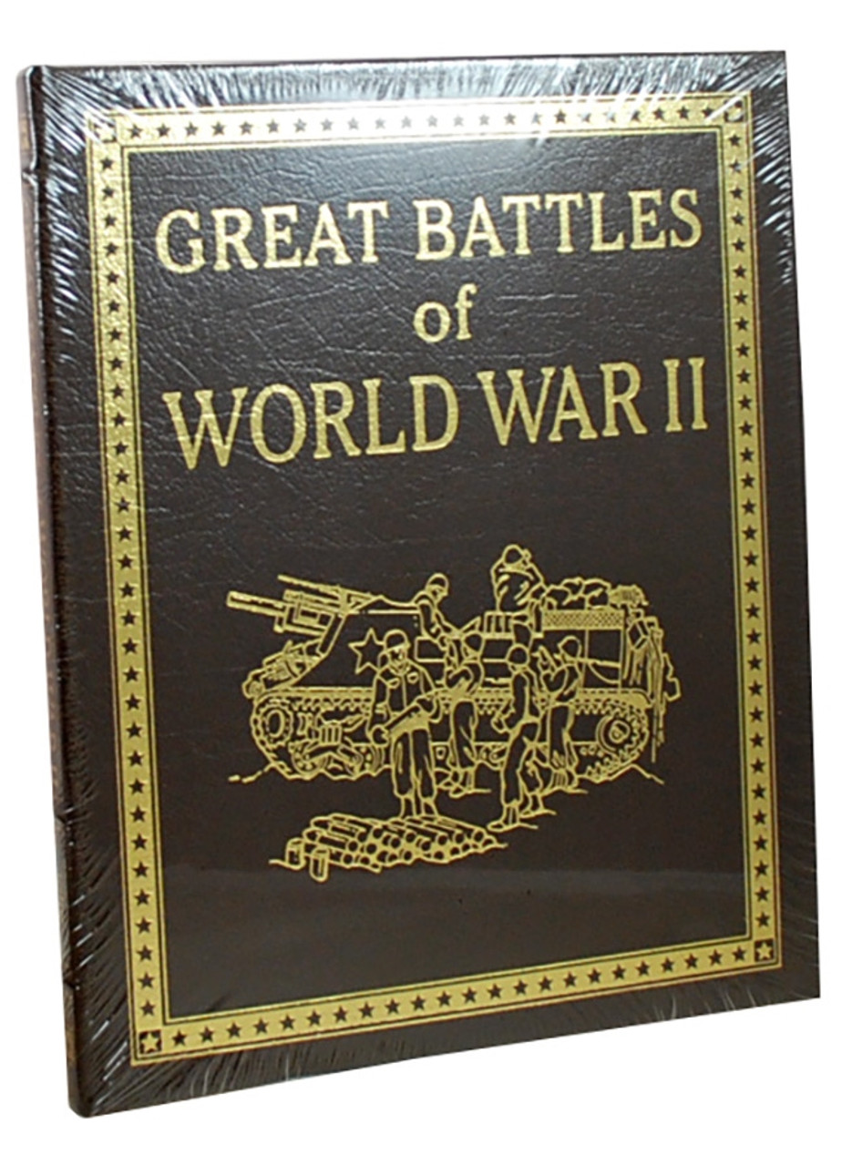 """Easton Press """"Great Battles"""" 4-Volume Complete Matching Limited Edition Collector's Set, Leather Bound [Sealed]"""