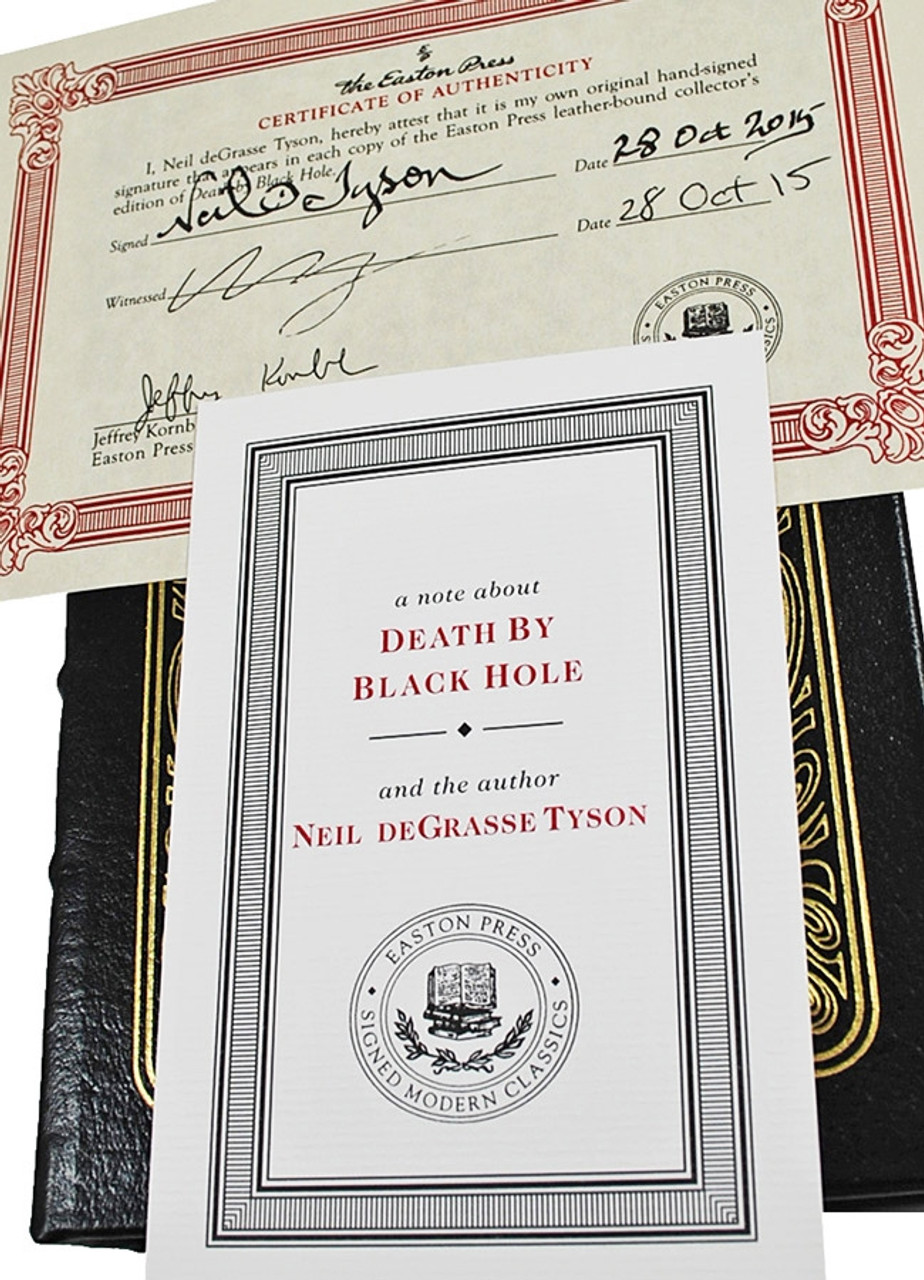 """Easton Press, Neil deGrasse Tyson """"Death by Black Hole"""" Signed Limited Edition, Leather Bound [Very Fine]"""