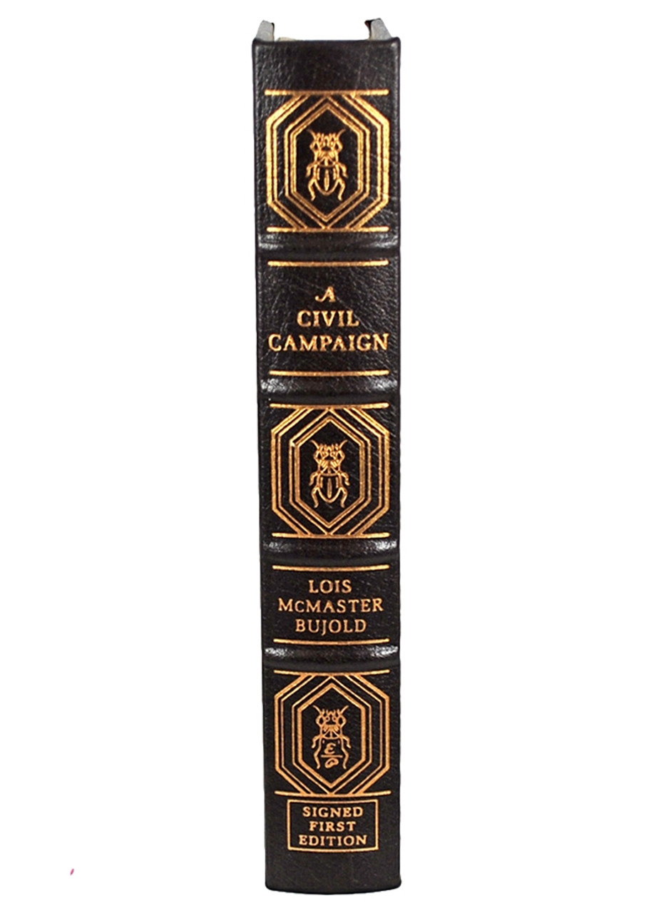 """Easton Press, Lois McMaster Bujold """"A Civil Campaign"""" Signed Limited First Edition #545 of only 1,225 [Very Fine]"""
