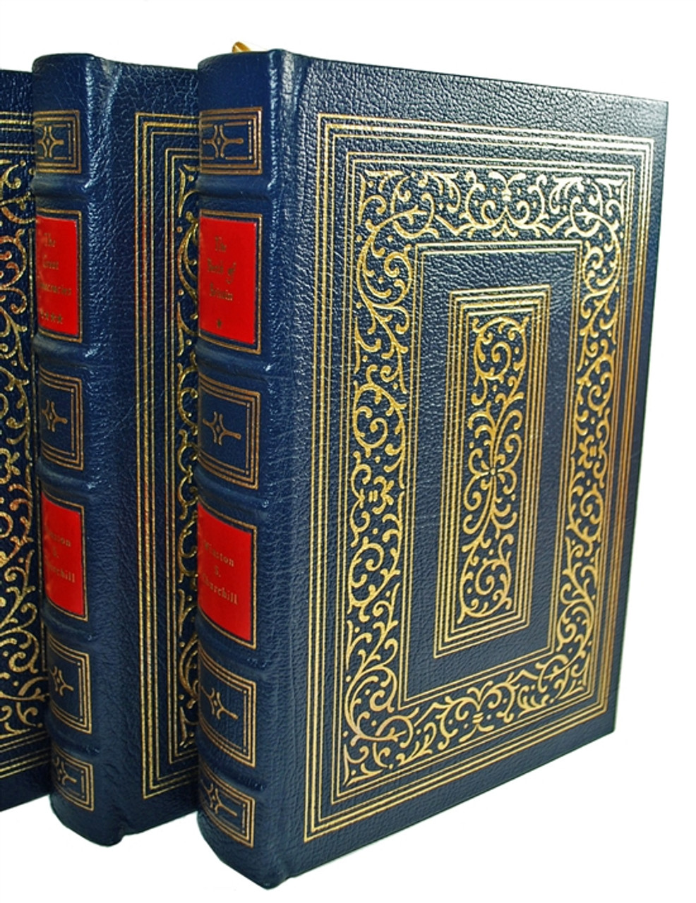 """Easton Press, Winston S. Churchill  """"A History of the English Speaking Peoples"""" Limited Collector's Edition, Complete Matching Set, 4 Vols (Very Fine)"""