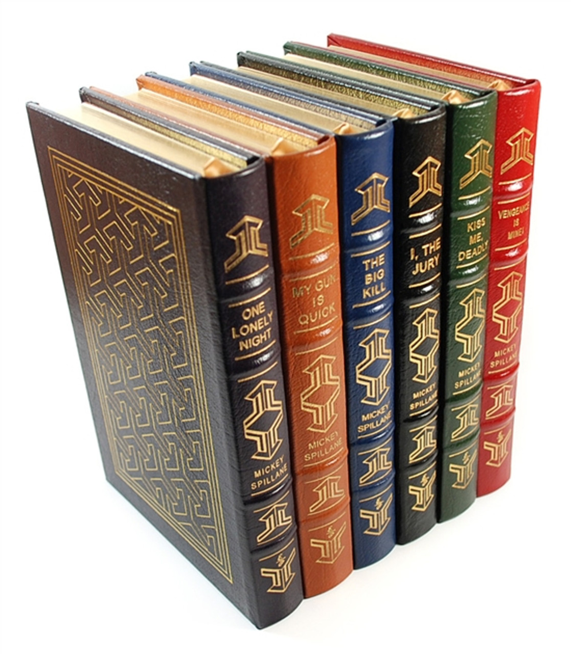 """Easton Press, Mickey Spillane  """"The Mike Hammer Collection"""" Limited Collector's Edition, Complete Matching Set, 6 Vols (Very Fine)"""