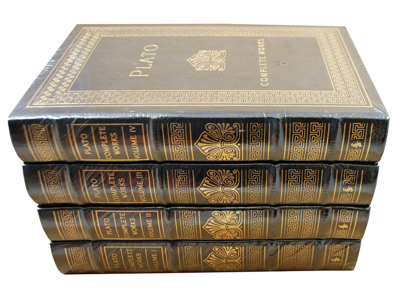 """Easton Press """"Plato: Complete Works"""" Leather Bound Limited Edition, Complete 4 Volume Matching Set [Sealed]"""