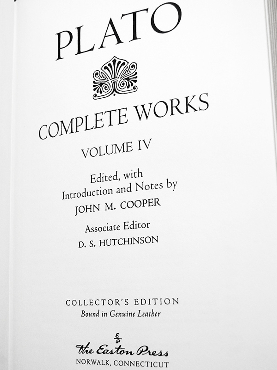 "Easton Press ""Plato: Complete Works"" Leather Bound Limited Edition, Complete 4 Volume Matching Set"