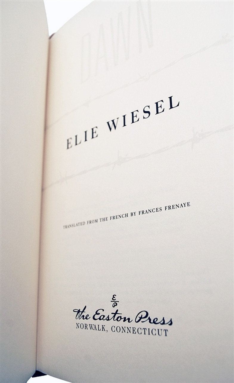 """Easton Press, Elie Wiesel  """"The Night Trilogy"""" Signed Limited Edition w/COA, Complete Matching Set, 3 Vols"""