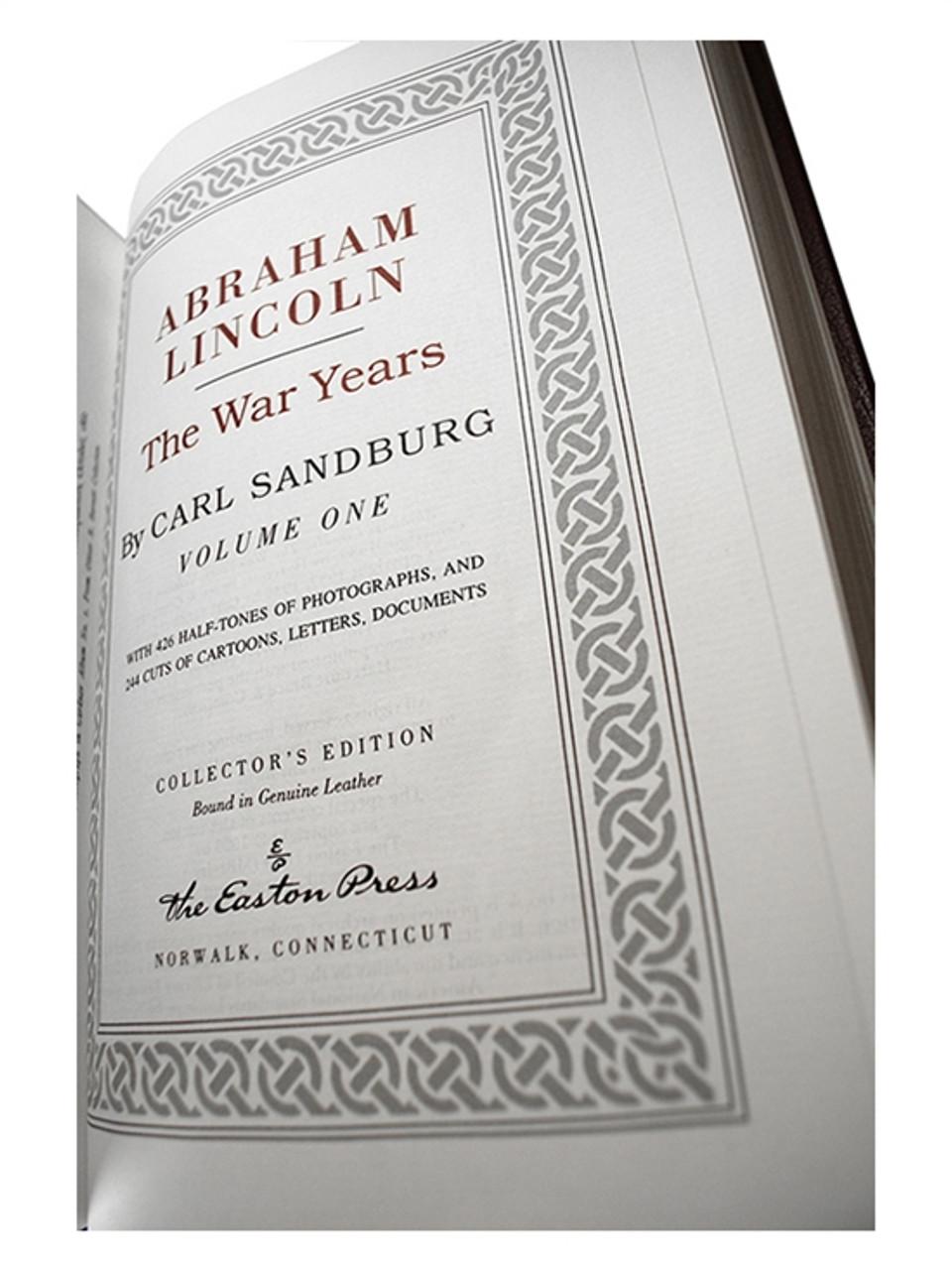"Easton Press, Carl Sandburg ""Abraham Lincoln: The Prairie Years and The War Years"" 6 Vol. Set"