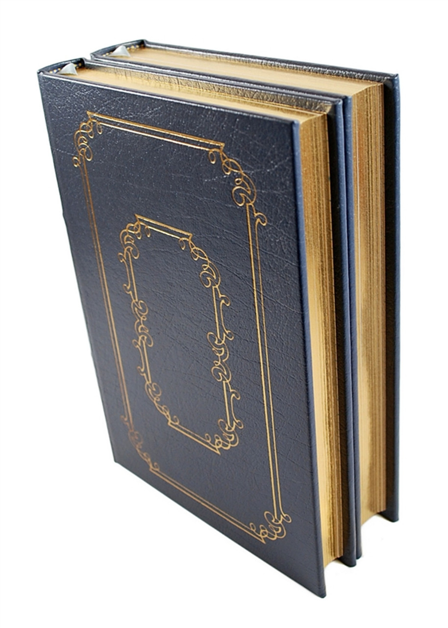 """David McCullough """"The Path Between The Seas"""" Leather Bound Collector's Edition, Two Volume Complete Matched Set"""