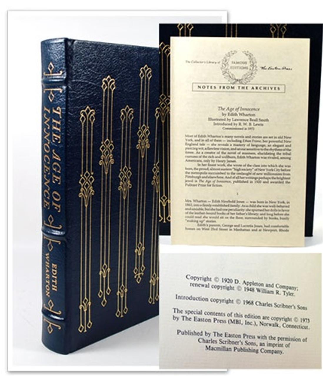 "Easton Press ""Age of Innocence"" Edith Wharton"