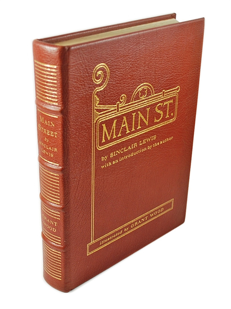 """Easton Press """"Main Street"""" Sinclair Lewis, Leather Bound Limited Collector's Edition w/Notes"""