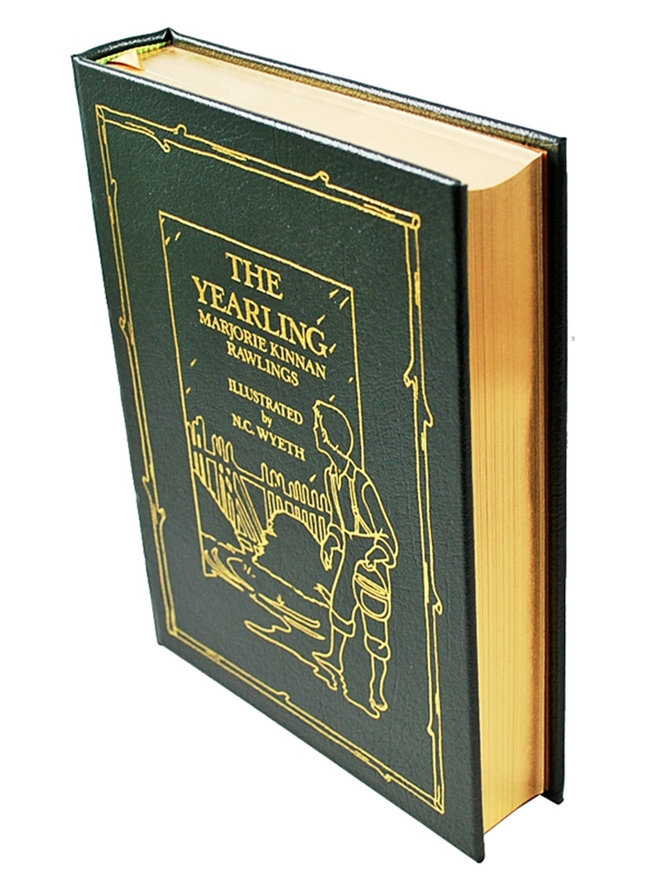 """Easton Press, Marjorie Rawlings """"The Yearling"""" Leather Bound Collector's Edition, Illustrated [Very Fine]"""