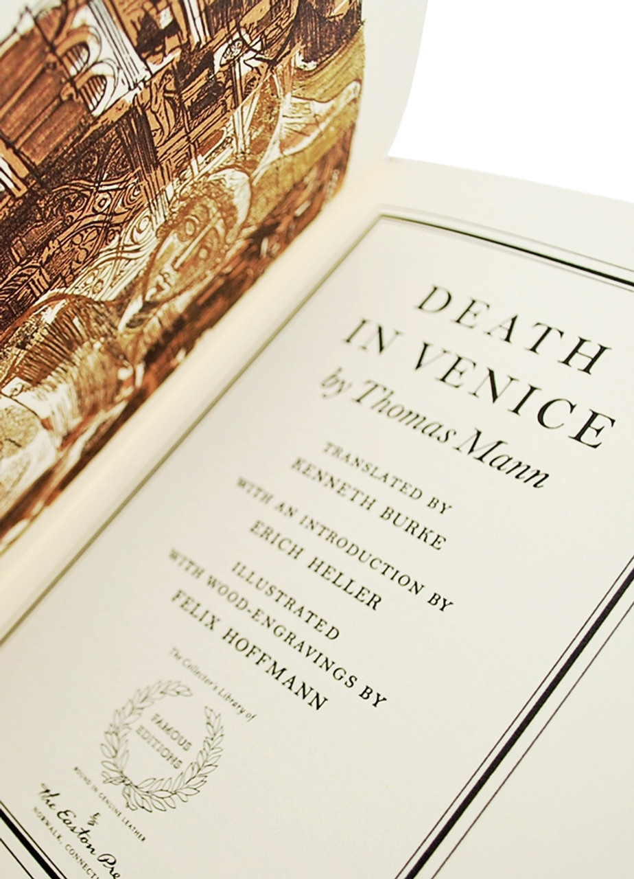 """Easton Press, Thomas Mann """"Death in Venice"""" Leather Bound Collector's Edition w/Notes [Very Fine]"""