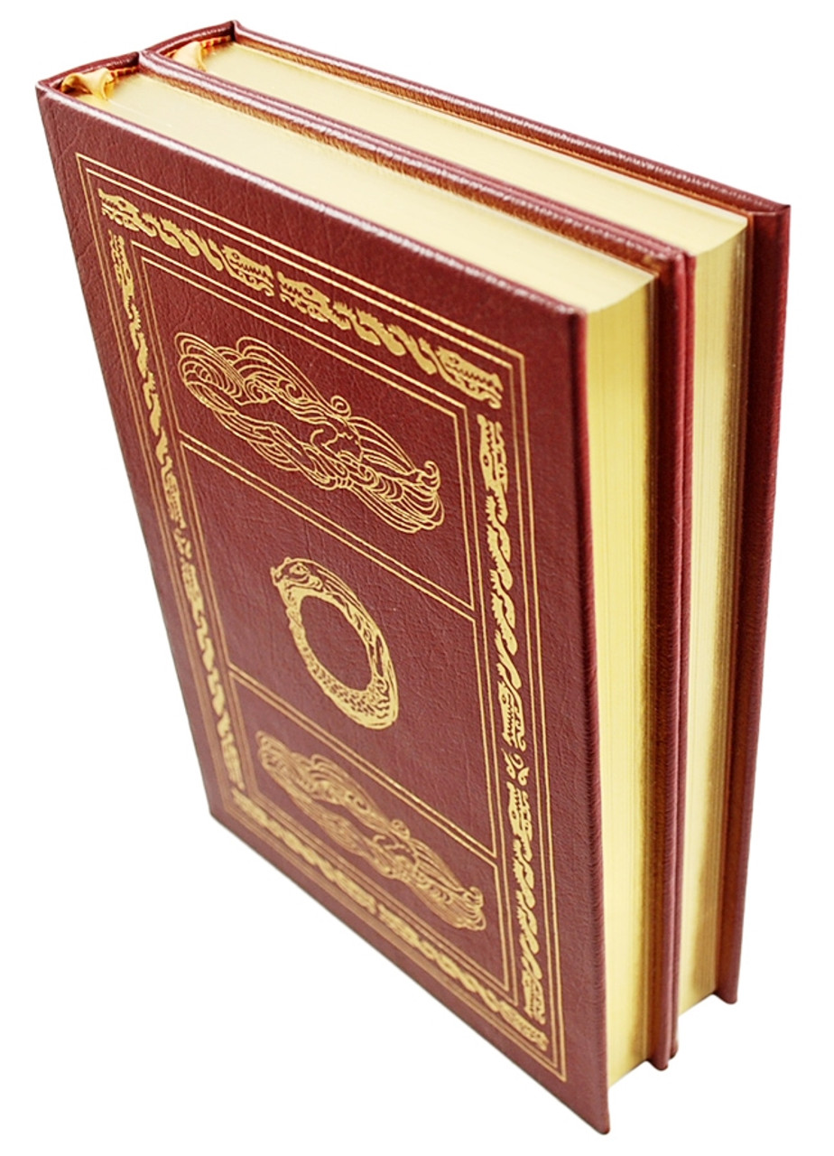 """Easton Press, Richard Wagner, The Ring of the Niblung: """"Siegfried and The Twilight of the Gods"""" and """"The Rhinegold and the Valkyrie"""" Leather Bound Collector's Edition, 2 Vols."""