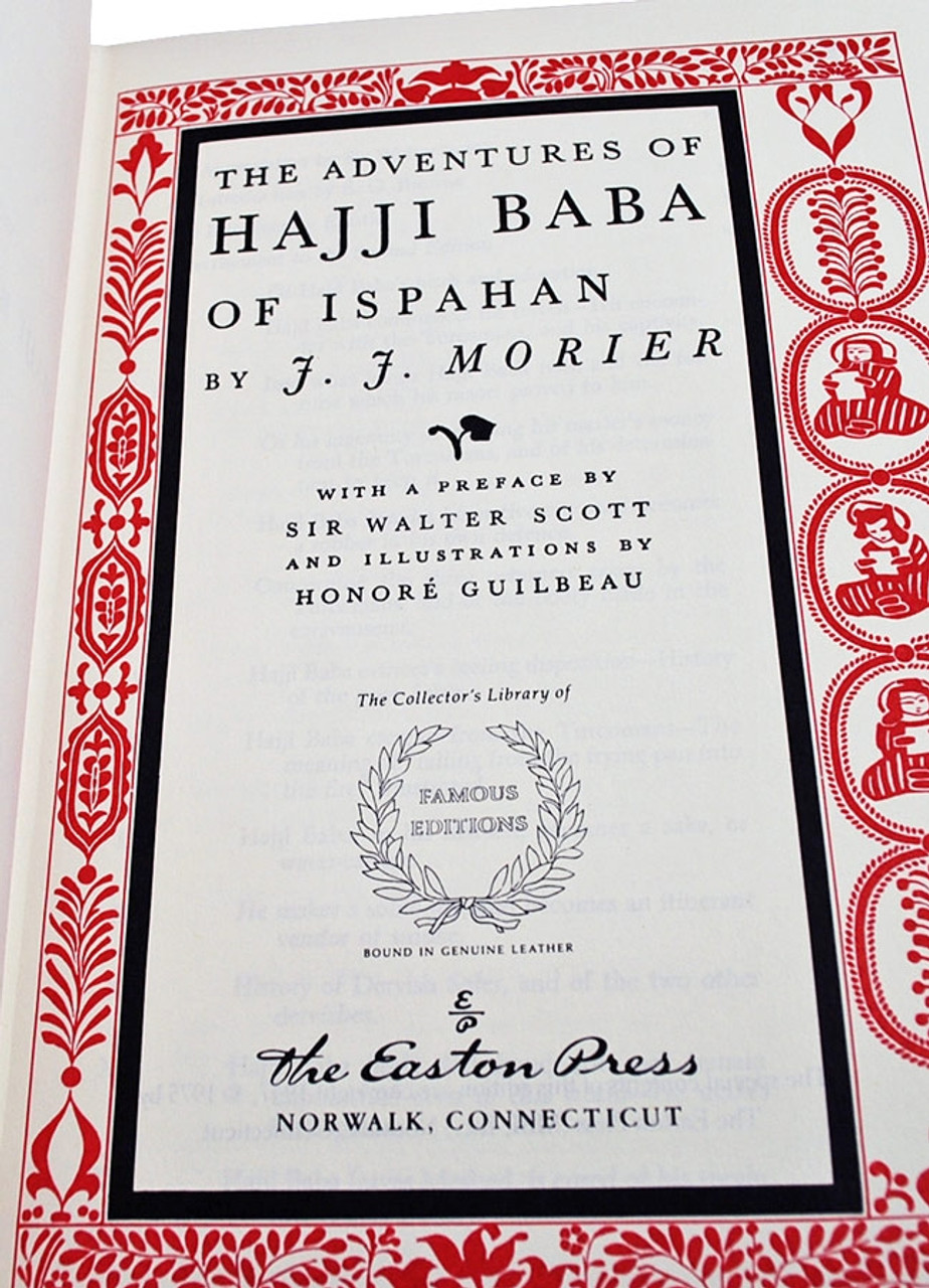 Easton Press J.J. Morier The Adventures of Hajji Baba Limited Edition Leather Bound Book