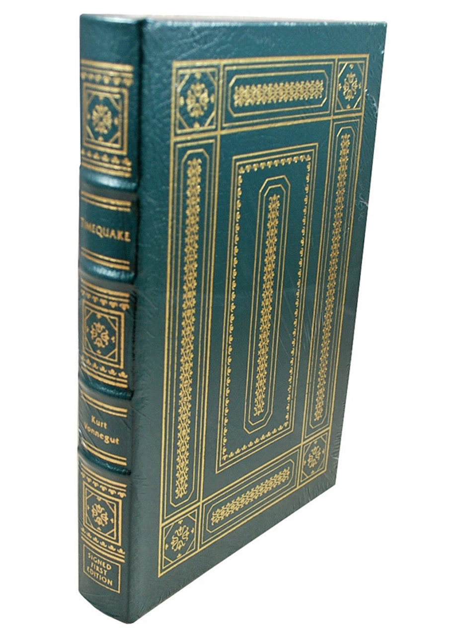 """Easton Press, Kurt Vonnegut """"Timequake"""" Signed First Edition w/COA and Collector's Notes [Sealed]"""