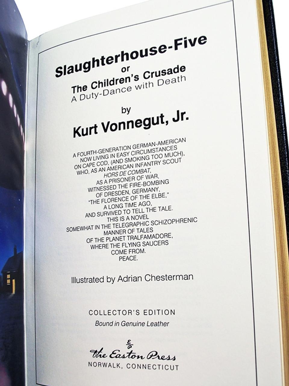 "Easton Press Kurt Vonnegut ""Slaughterhouse-Five"" Leather Bound Limited Edition"
