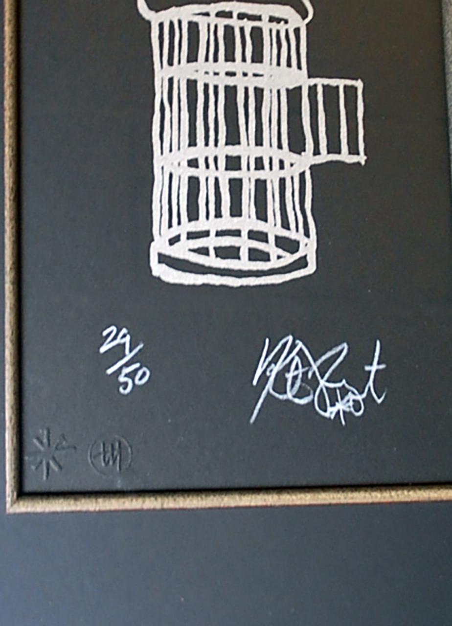"Kurt Vonnegut FREEDOM Signed Limited Edition ""Gilded Cage"" Silkscreen #24/50"