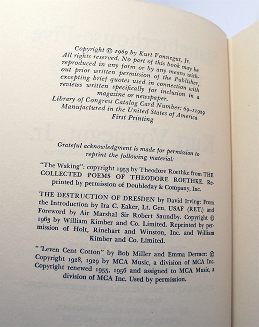Easton Press Kurt Vonnegut Slaughterhouse Five Signed First Printing