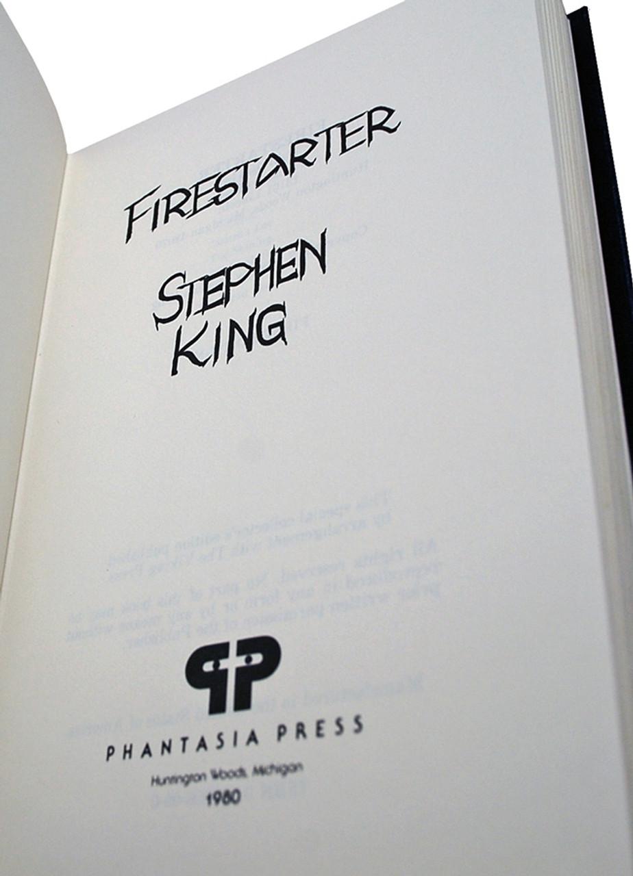 "Stephen King ""Firestarter"" Signed Limited First Edition of 725 w/Slipcase"