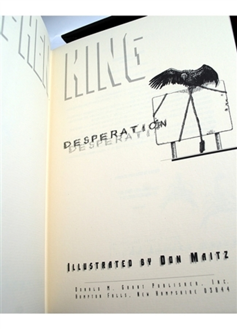 Stephen King Desperation Black House Signed Limited