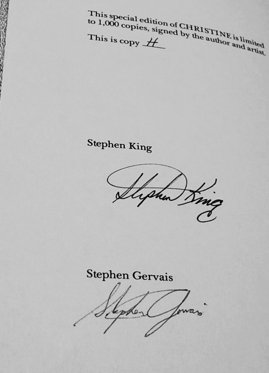 Stephen King 'Christine' Signed Lettered Edition