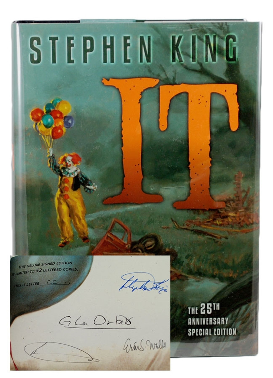 """Stephen King """"IT"""" Signed Limited Deluxe, 25th Anniversary Edition of only 750  (As New)"""