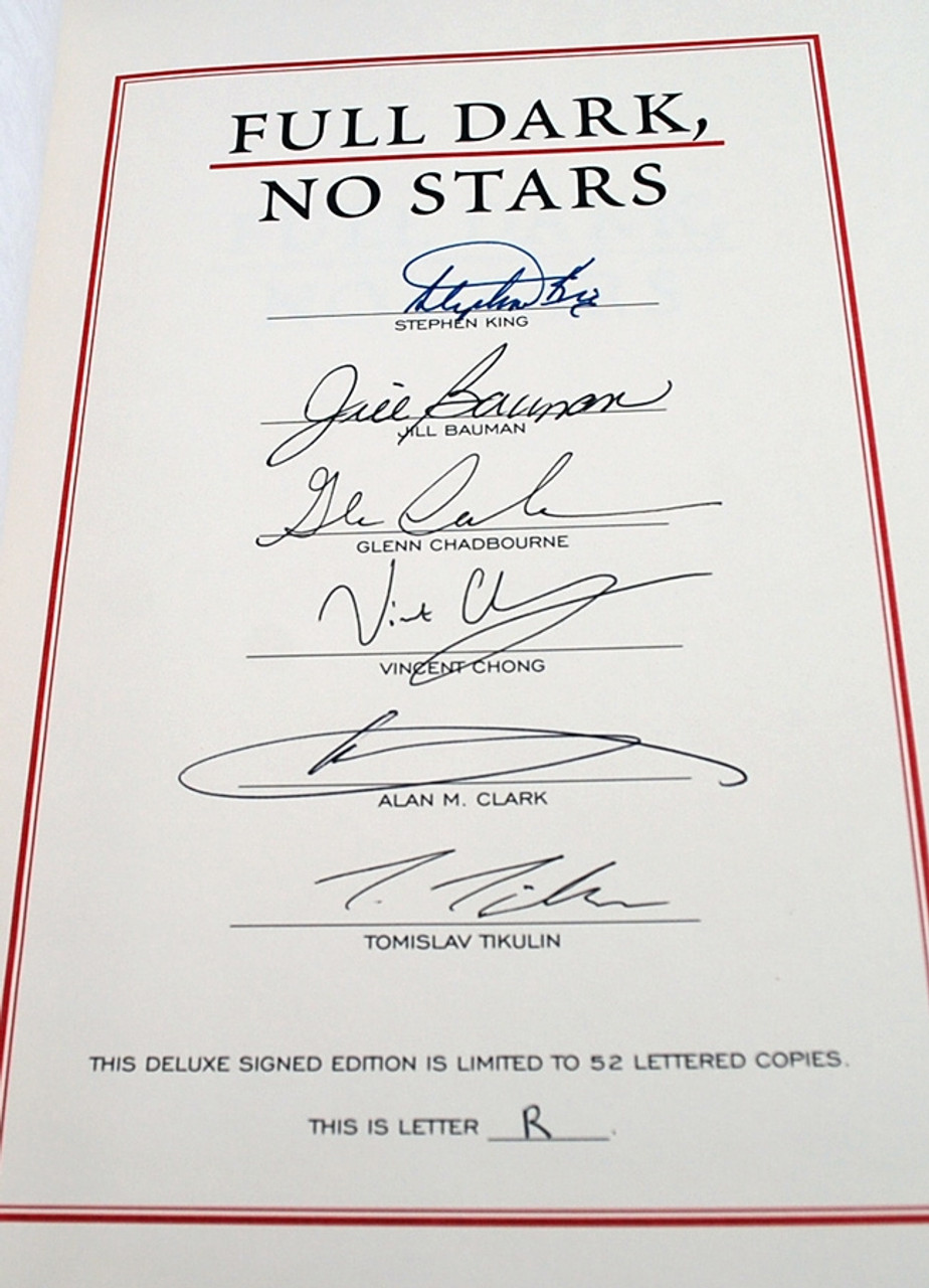 Stephen King Full Dark No Stars two book set Signed Lettered Edition and Deluxe Gift Edition