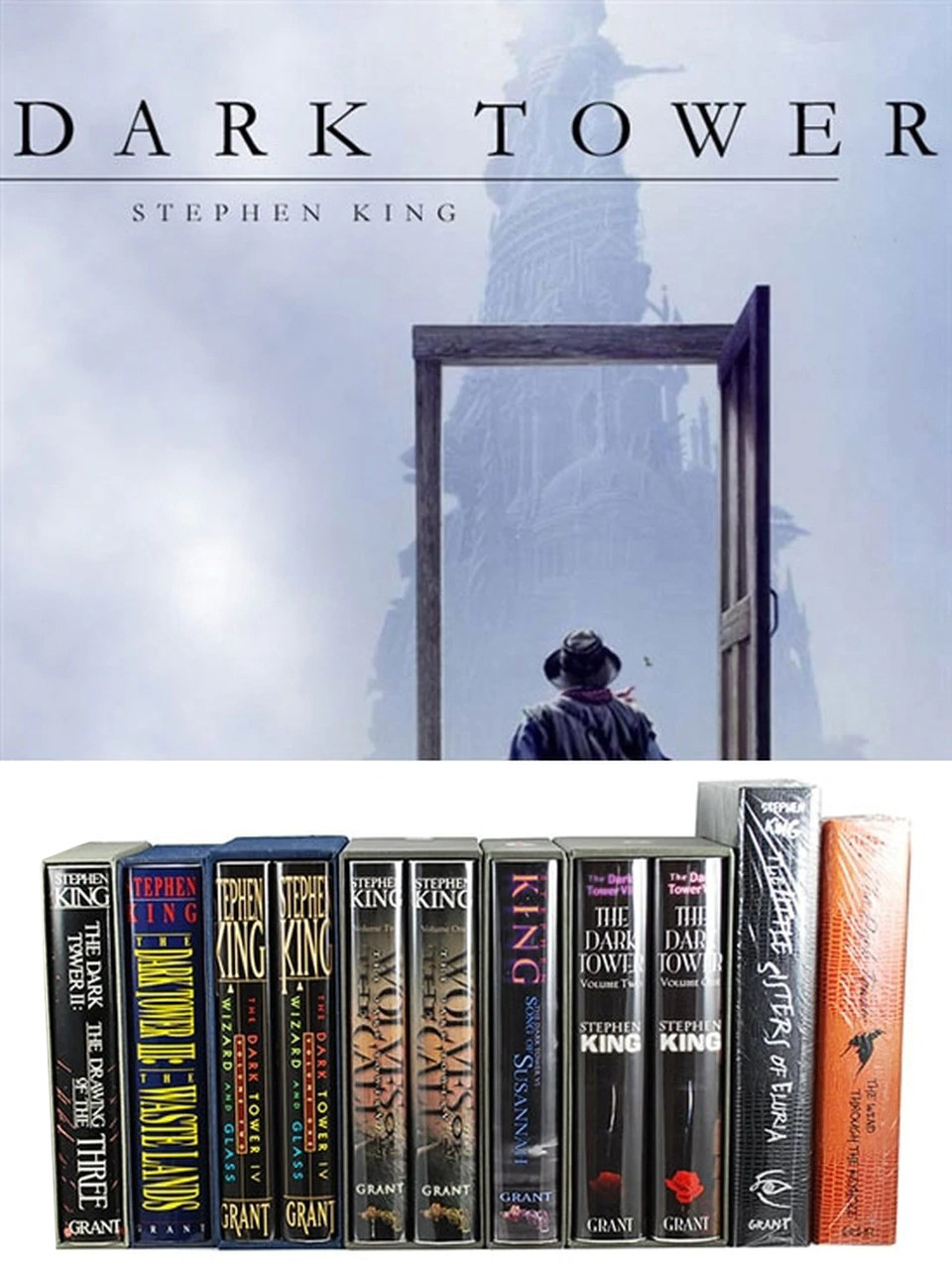 """Stephen King """"The Dark Tower"""" Signed Limited Edition, Partial Matching Numbers 8 Vol. Set + Bonus Books"""