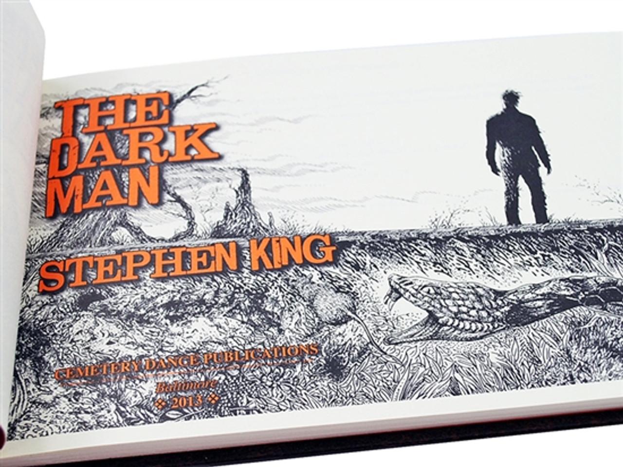 "Cemetery Dance ""The Dark Man"" Stephen King, Glenn Chadbourne, Signed Limited Edition No. 26 of 500, Tray-cased w/Matching Artwork Portfolio [Very Fine]"
