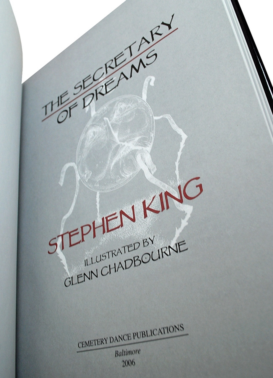 """Stephen King """"Secretary of Dreams"""" Two Volume Matched Set, Slipcased Oversized Hardcover Gift Editions [Very Fine]"""