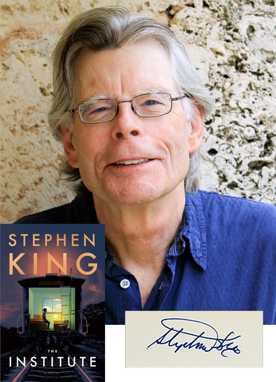 """Stephen King """"The Institute"""" Signed First Edition, First Printing [VF/VF Archival Sleeve Protection]"""