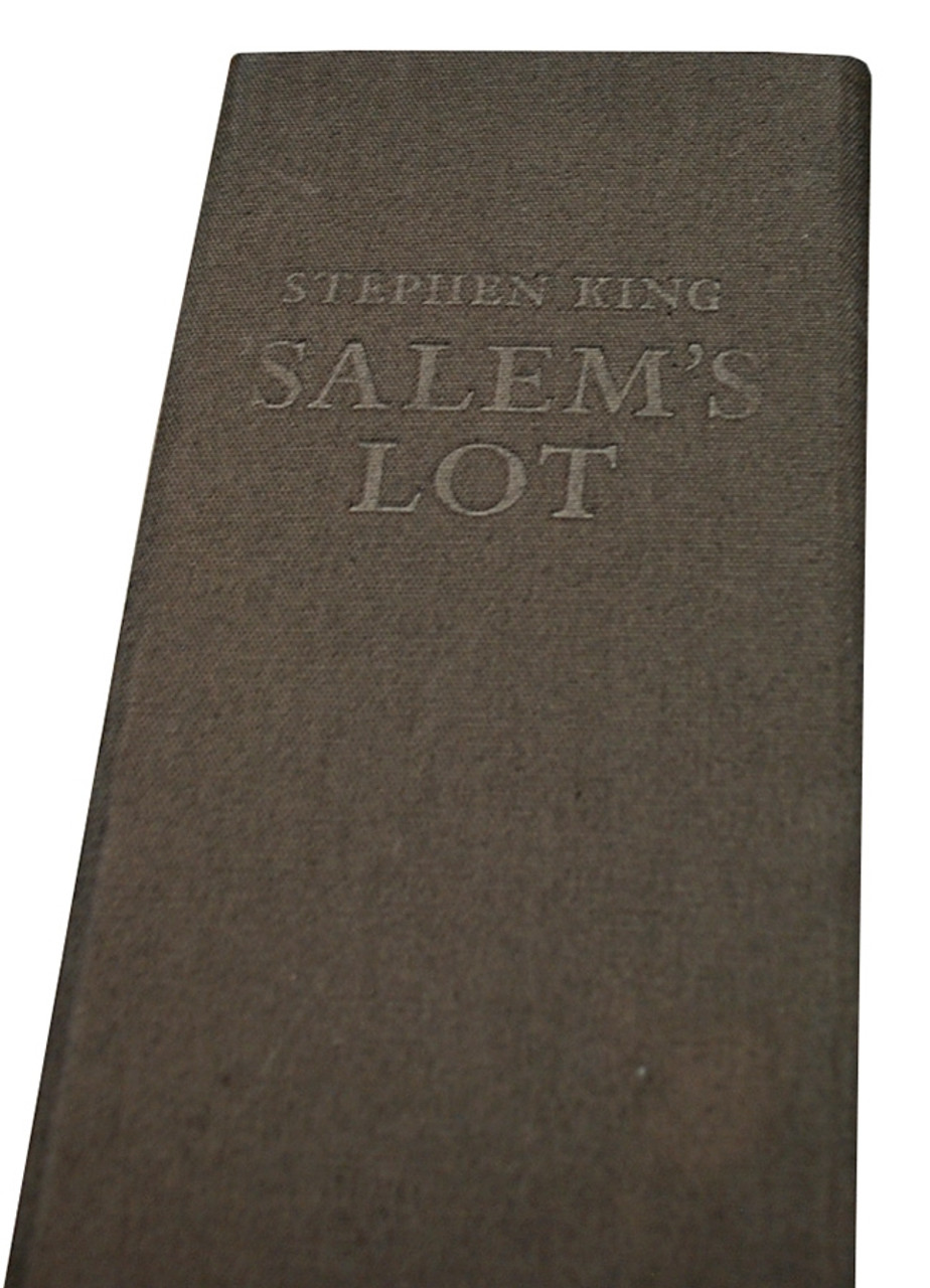 """Stephen King """"Salem's Lot"""" Signed Deluxe Leather Bound Roman Numeral Limited Edition"""