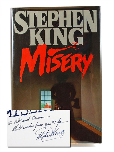 """Stephen King """"Misery"""" Signed First Edition - First Printing, Fine/Fine """"from your #1 fan"""""""