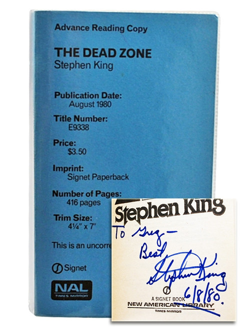 "Stephen King ""The Dead Zone"" Uncorrected Galley Proof, Signed First Edition Slipcased"