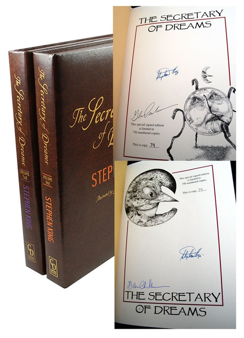 "Stephen King ""The Secretary of Dreams"" Signed First Limited Edition, Matching Numbered Set. #74/750"