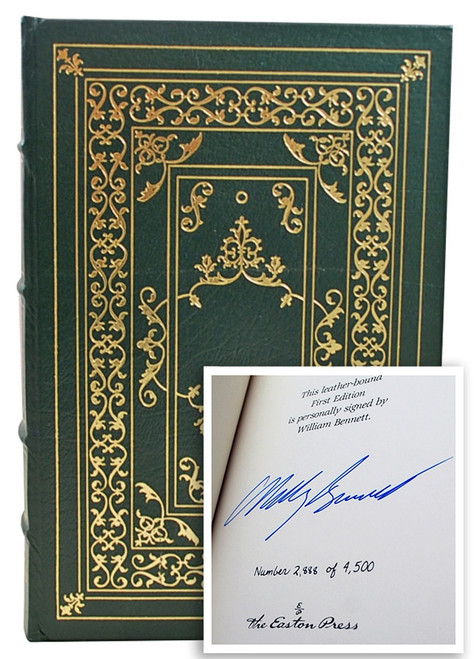 """Easton Press """"The Moral Compass"""" William J. Bennett, Signed First Edition w/COA [Sealed]"""