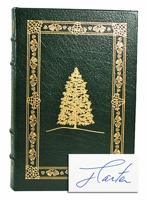 "Easton Press, Jimmy Carter ""Christmas In Plains:Memories"" Signed Limited Edition [Very Fine]"