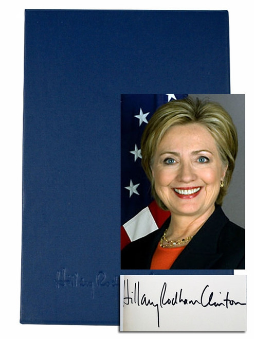Hillary Clinton Living History Signed First Edition