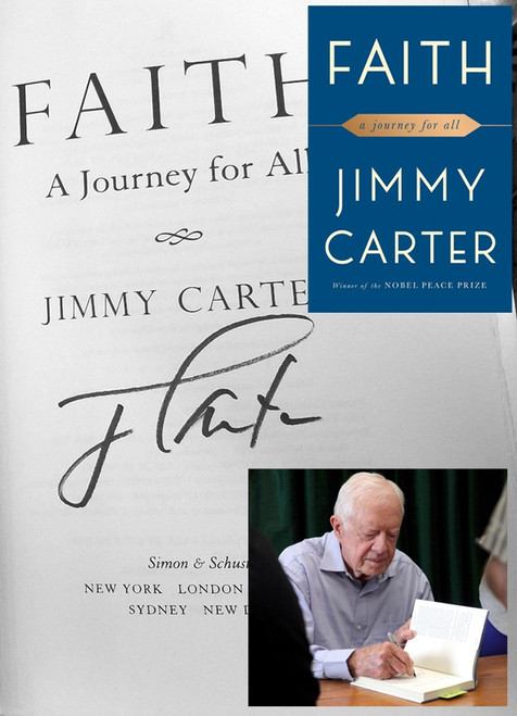 "Jimmy Carter  ""Faith: A Journey For All"" Signed First Edition w/Archival Sleeve Protection [Very Fine]"