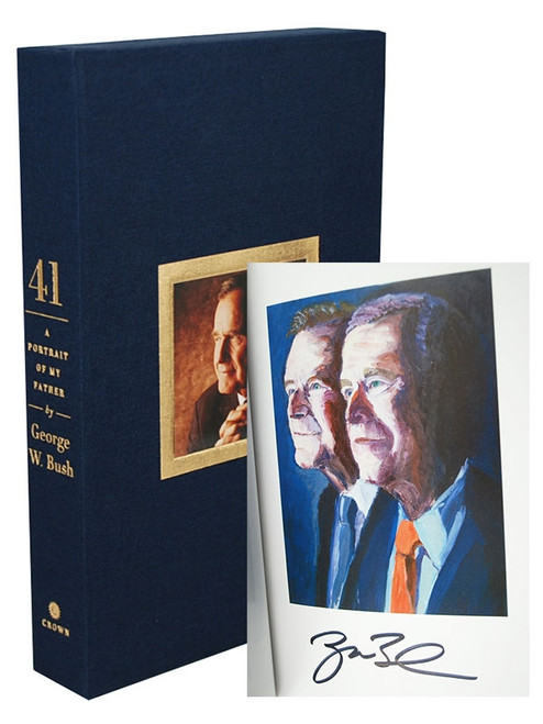 "George W. Bush ""41: A Portrait of My Father"" Signed First Edition,  Deluxe Slipcased Collector's Edition [Sealed]"
