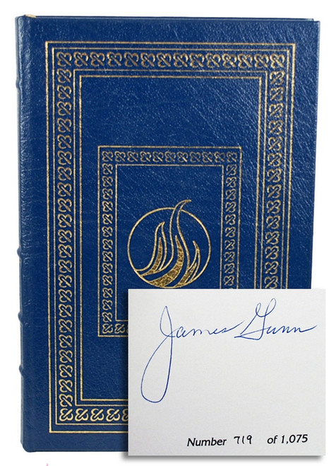 Easton Press James Edwin Gunn The Millennium Blues Signed First Edition Leather Bound Book