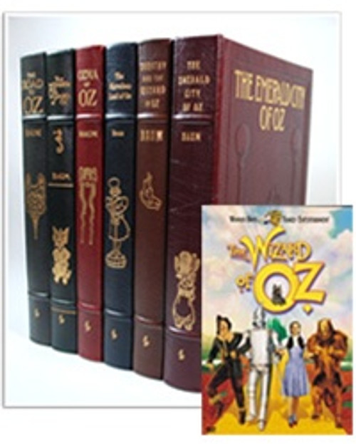 """Easton Press """"The Wizard of Oz"""" L. Frank Baum, 6 Vol. Matching Complete Collection (Very Fine) First Edition 1989"""